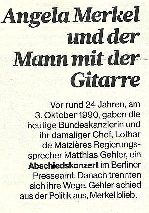 ngela Merkel und der Mann mit der Gitarre.