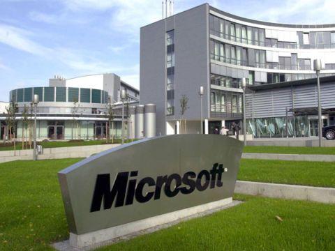 Microsoft - ein stolzer großer Arbeitgeber in Unterschleißheim.
