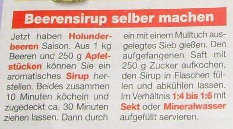 Beerensirup Holunder