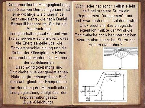 Die bernoullische Energiegleichung