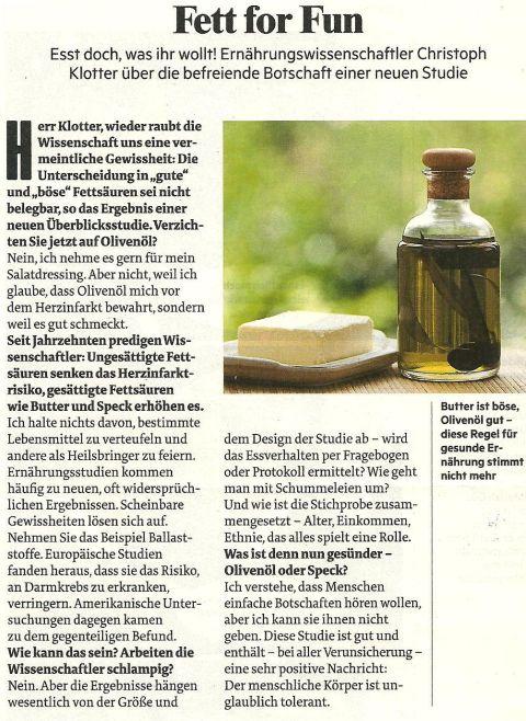 Christoph Klotter : Esst doch , was ihr wollt !