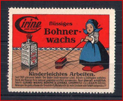 alte Werbung für Bohnerwachs - Welche Frau tut das heute noch ? . . .