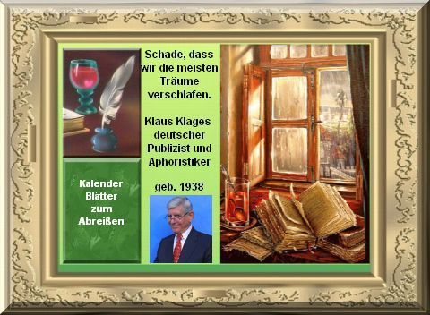 Klaus Klages Kalenderblätter