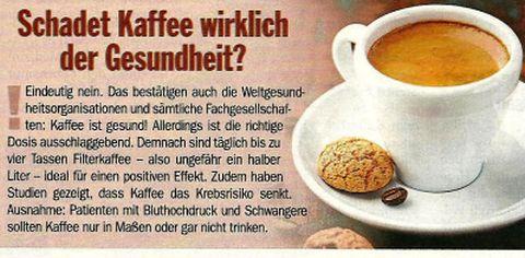 Schadet Kaffee der Gesundheit ?