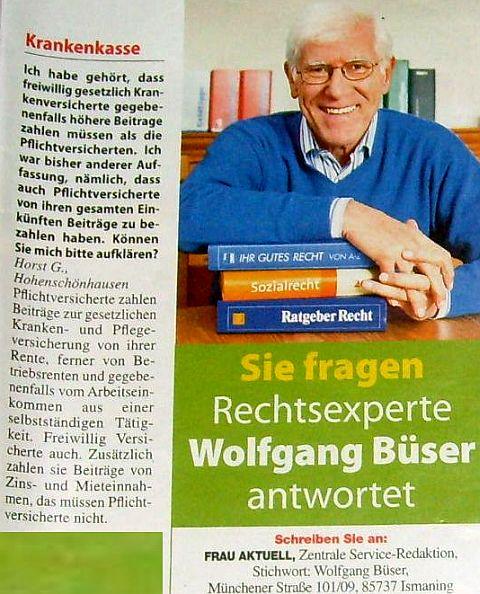 Krankenkasse  Wolfgang Büser