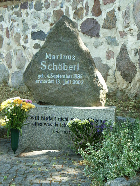 Potzlow Grab Marinus Schoeberl