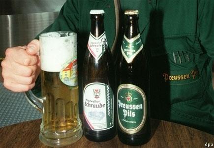 Wir haben es noch nicht probiert , da keine Biertrinker . Frage : Schmeckt das Bier ? :-)