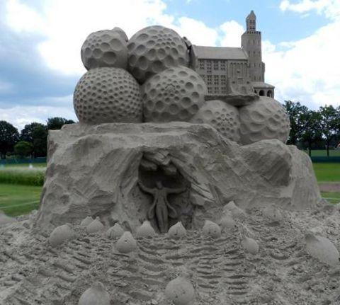 wahre Kunstwerke im Sand