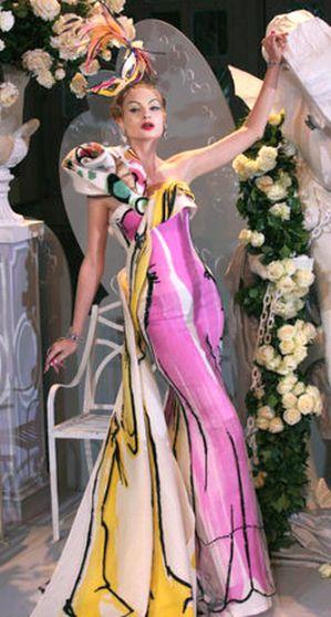 * Kleid wie ein gemaltes Bild *