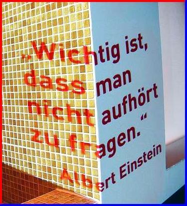 Der Gute Einstein ! :-)