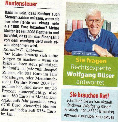 Experte Wolfgang Büser