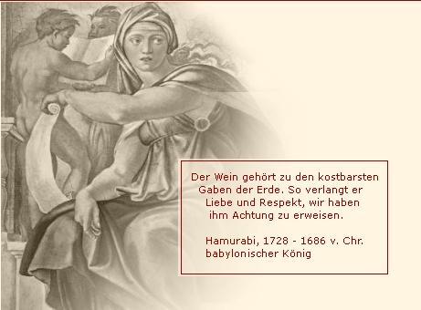 Hamurabi babylonischer König über den Wein