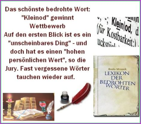 Lexikon der bedrohten Wörter wie : Kleinod