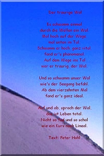 Der traurige Wal von  Peter Hohl