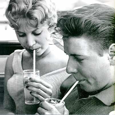 Eddie et sa fiancée Sharon Sheeley