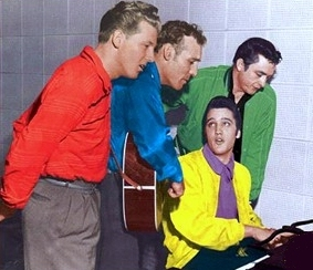 The Million Dollar Quartet : Jerry Lee Lewis, Carl Perkins, Elvis Presley et Johnny Cash