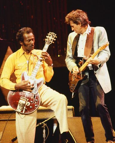 Chuck Berry et Keith Richards