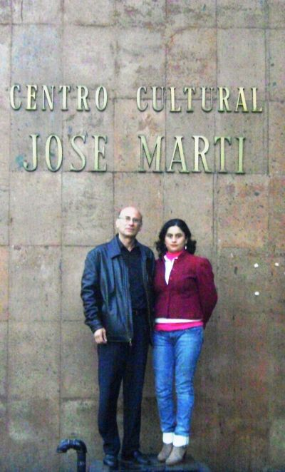Los escritores Rogelio Serralta y Lizette Márquez