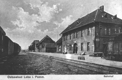 Łeba-dworzec kolejowy, lata XX