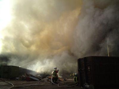 Feuer Müllverbrennung Mut