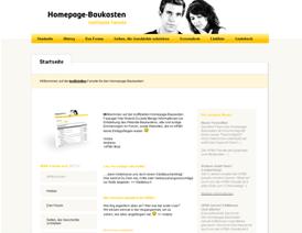 Homepage-Baukasten Fansite