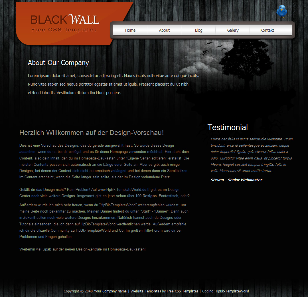 HpBk-TemplateWorld | Alles für dich. - Black Wall