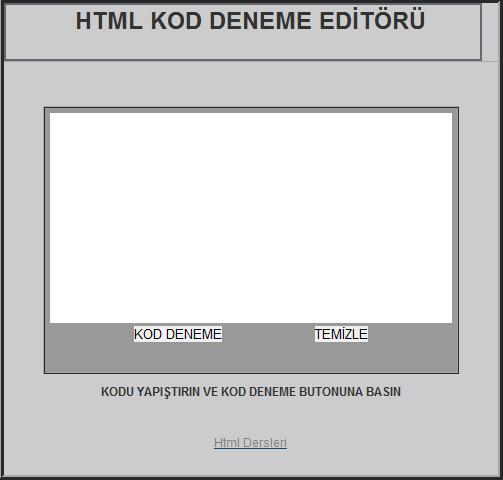 HTML Kod Deneme Editörü.!