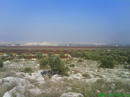 صورة من جبل الدانا-قرية حزرة