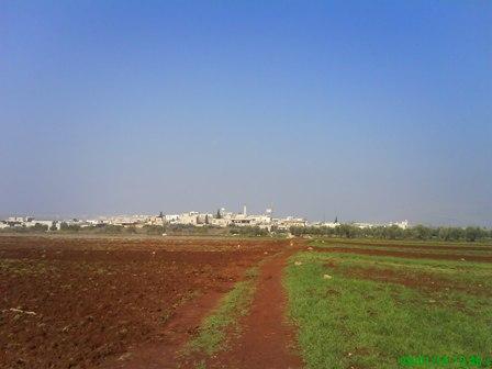 الطريق الزراعي المؤدي الى الدانا-قرية حزرة شتاء