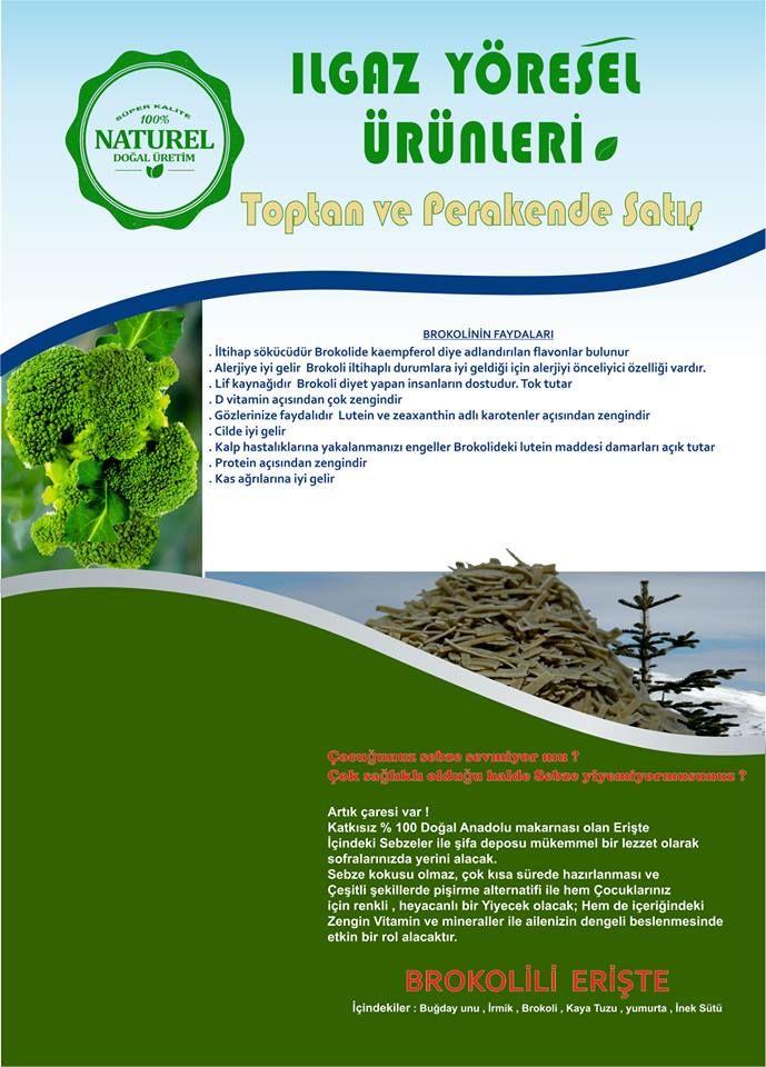 Gökkuşağı Brokolili Erişte