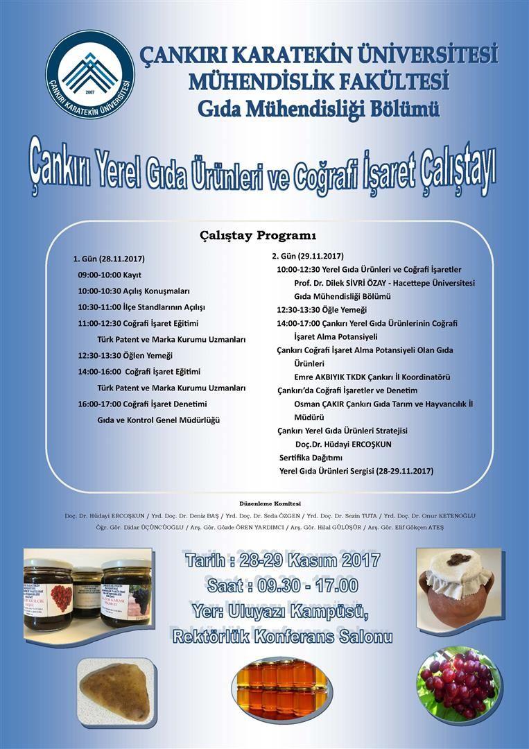 Çankırı Yöresel Gıda Ürünleri ve Coğrafi İşaret Çalıştayına Katıldık