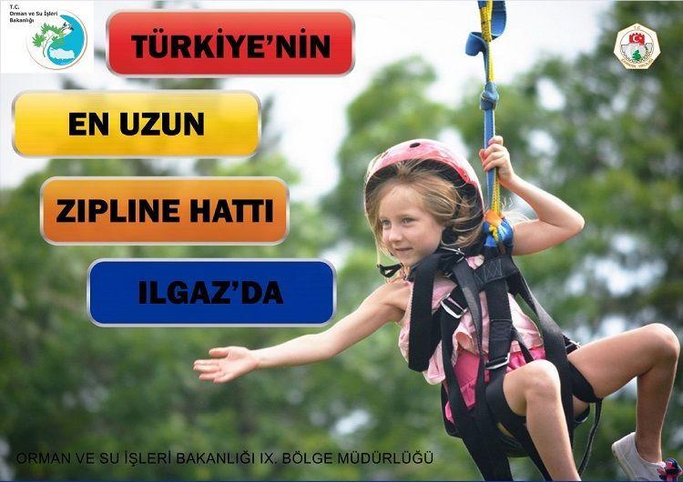 Ilgaz Dağındaki Türkiyenin En Uzun Zipline Hattı Açıldı