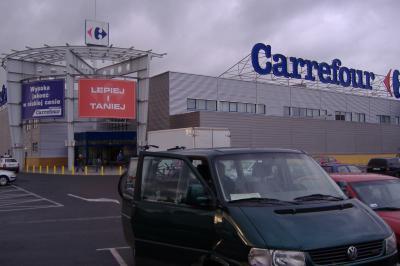 unsere Rettung - der Carrefour in Jelenia Gora