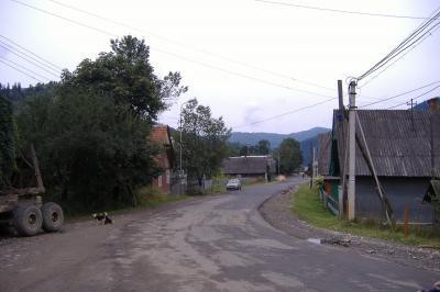 Dorfstraße in Lopukhovo