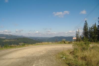 Wundervolle Aussichten auf die Karpaten