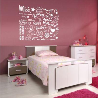 Fantasy deco vinilos decorativos cuarto de las chicas for Vinilos para dormitorios de ninos