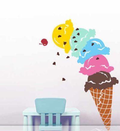 Fantasy deco vinilos decorativos heladerias helados - Decoracion de helados ...