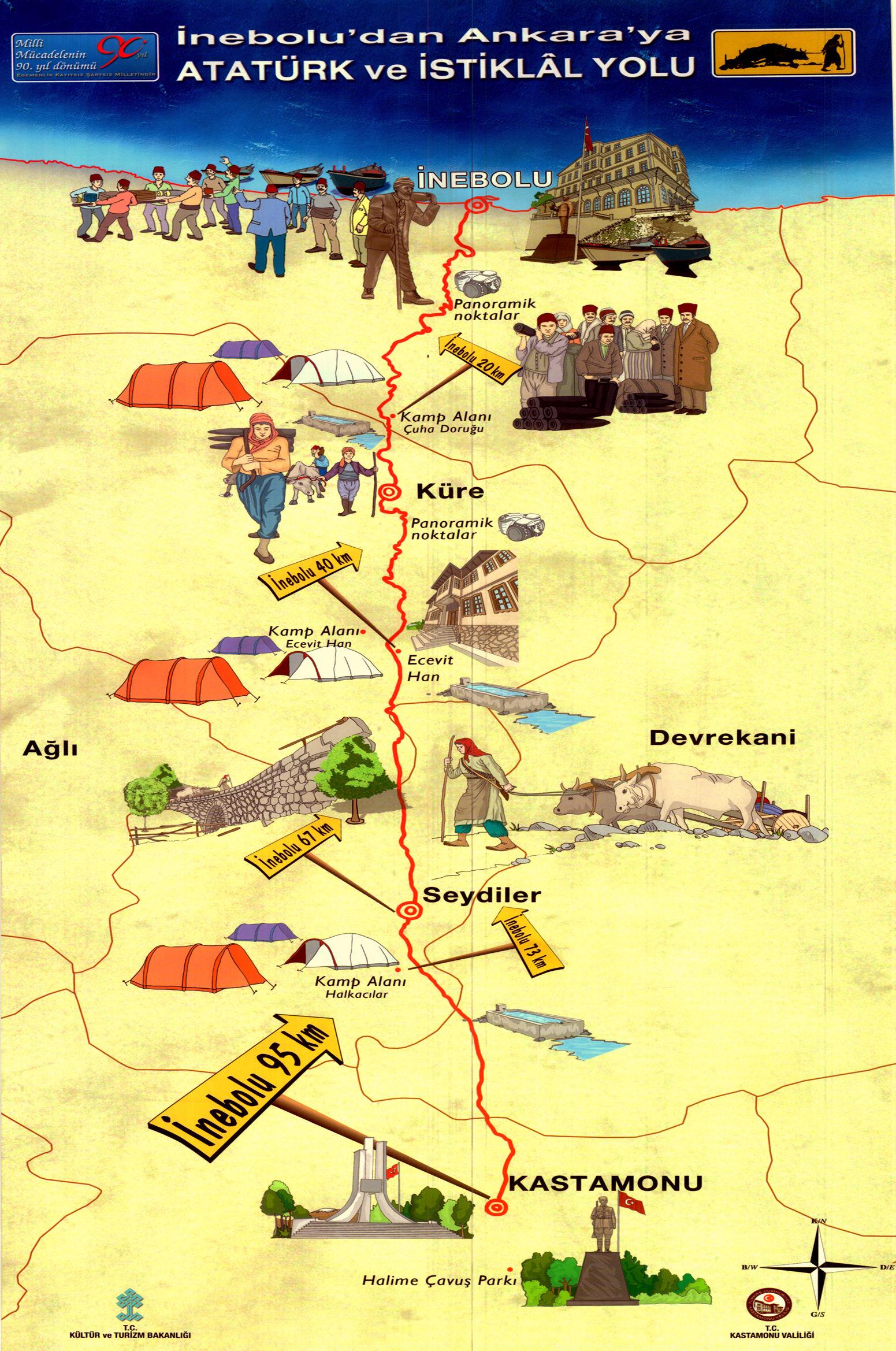 İstiklal Yolu Haritası