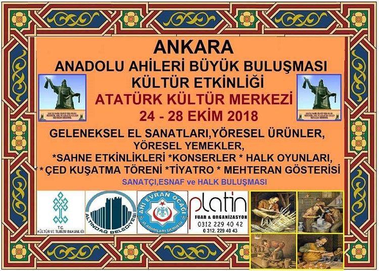 Anadolu Ahiler Büyük Buluşması Ne Zaman?