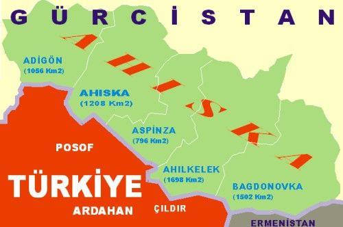 Ahıska Türkleri Gürcistan Haritası