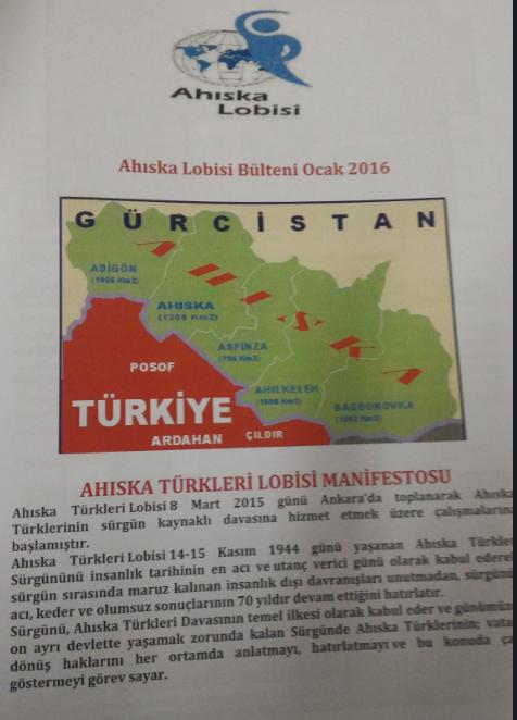 Ahıska Türkleri Lobisi Manifestosu