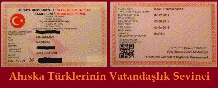 Ahıskalı Türklerin Vatandaşlık kimliği Sevinci