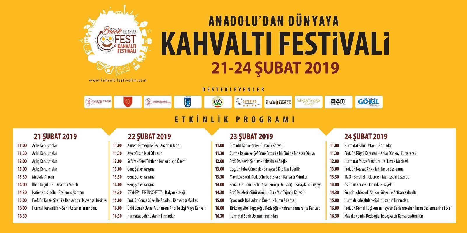 Ankara Kahvaltı Festivali Etkinlik Takvimi 2019