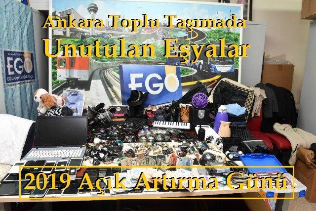 Ankara Toplu Taşımada Unutulan Eşyalar Açık Artırma Satışı 2019