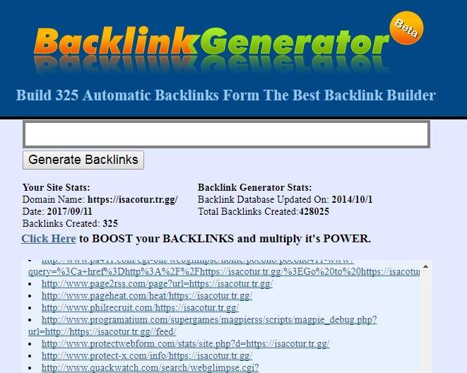 Backlink Generatör ile Otomatik Backlink Oluşturmak