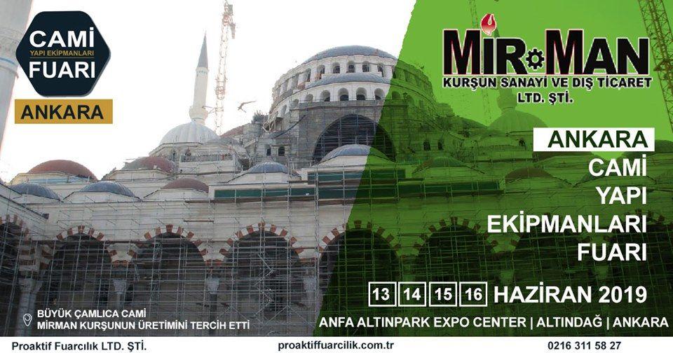 Cami Yapı Ekipmanları Fuarı Katılımcı Firma Mirman Kurşun