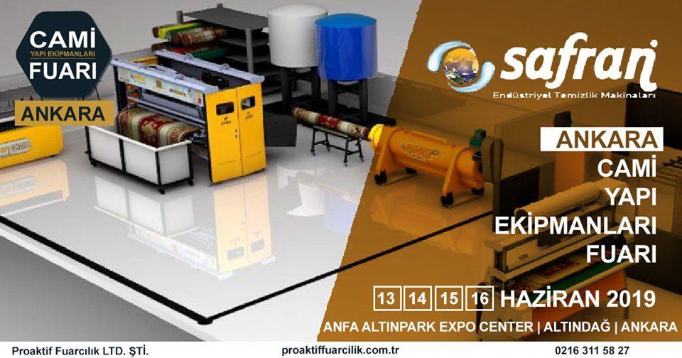 Cami Yapı Ekipmanları Fuarı Katılımcı Firma Safran Temizlik Makinaları