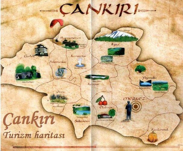 çankırı turizm haritası
