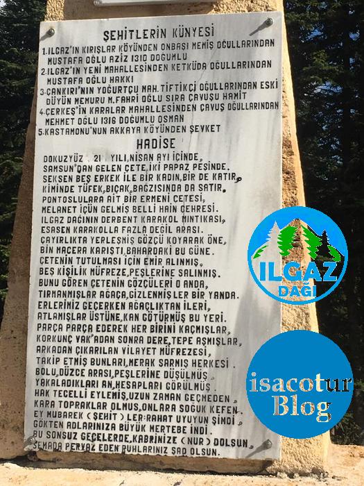 Derbent Şehitliği Anıtı Kitabesi