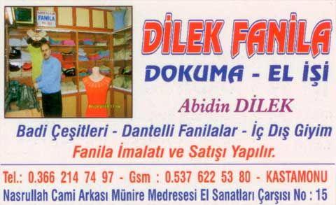 """Terletmeyen Kastamonu Fanilası """"Dilek Fanila"""" Fuarda"""